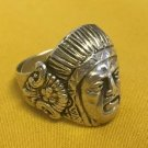 ANTIQUE RING STERLING SILVER NAVAJO NATIVE AMERICAN INDIAN  Sz 6.75 ADJUSTABLE