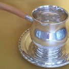 ANTIQUE SILVER FLUTES SAUCE BOAT UNDER PLATE TOWLE STERLING SILVER 172/140
