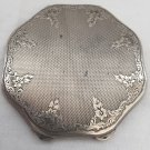 ANTIQUE POWDER COMPACT CASE SILVER 835 ENGRAVED DEDICATION AUSTRIA