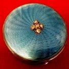 ANTIQUE PILL BOX FABERGE RUSSIAN GUILLOCHE ROSE CUT DIAMONDS 84 SILVER 19C