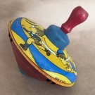 ANTIQUE SPINNING TIN TOY TOP BRYAN OHIO ART Co  MADE IN USA 1950s