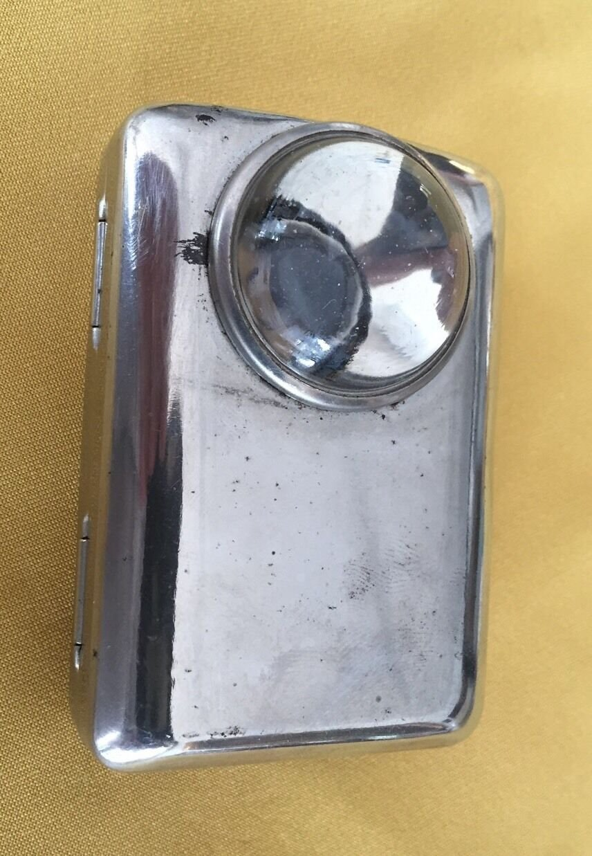 VINTAGE FLASHLIGHT COLLECTIBLE BATTERY STAINLESS STEEL 1950s
