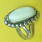 ANTIQUE RING MOTHER OF PEARL STERLING SILVER NAVAJO NATIVE AMERICAN  Sz 7.25
