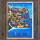 VINTAGE DUFFAUT NAIVE PAINTING OIL ON PANEL HAITIAN ARTIST SIGNED FINE ART