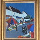VINTAGE PIERRE GERARD LANGLOIS ABSTRACT PAINTING OIL ON CANVAS FRENCH FINE ART