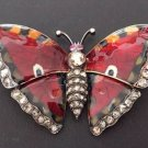 Antique  Faberge Victor Mayer European Cut Diamonds 18K Yellow Butterfly Brooch
