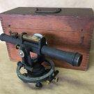 Original Antique Dennison Mfg Co Level Surveyors Scope Instrument In Box