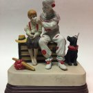 VINTAGE CLOWN MUSIC BOX FIGURINE THE RUNAWAY '85 NORMAN ROCKWELL