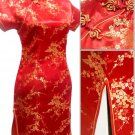 Red Cute Clubs Mini Chinese Dress / Qipao