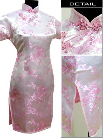Pink Cute Clubs Mini Chinese Dress / Qipao