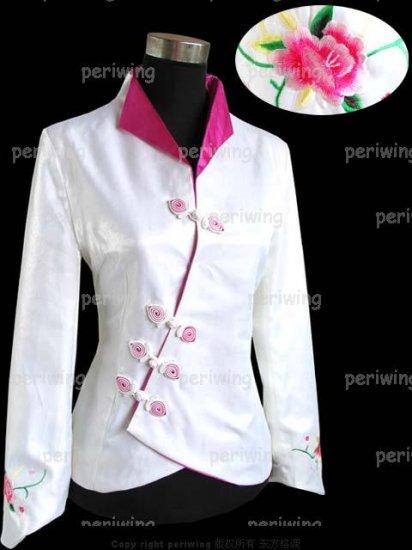 White Fashion Style Embroiders Chinese Jacket
