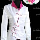 White Fashion Style Embroiders Chinese Jacket