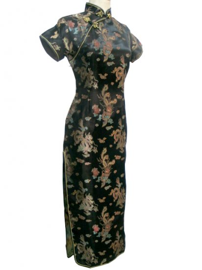 Black Grace Chinese Dress Evening Gown [CDL-03Bk]