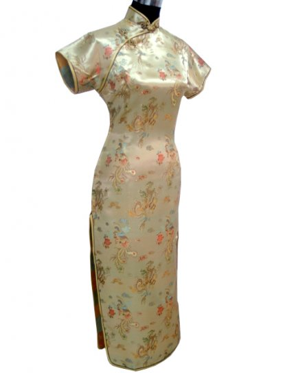 Gold Grace Chinese Dress Evening Gown [CDL-03GD]