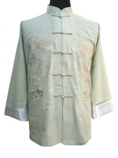 White Chinese Dragon Kung-fu Jacket [CMJ-01WT]