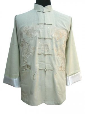 White Chinese Dragon Kung-fu Jacket [CMJ-01WT]