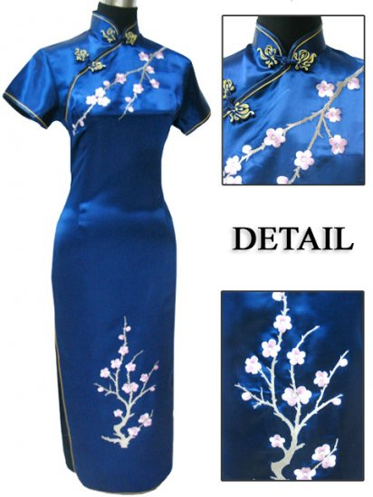 Blue Grace Club Embroidered Dress Evening Gown [CLD-07BE]