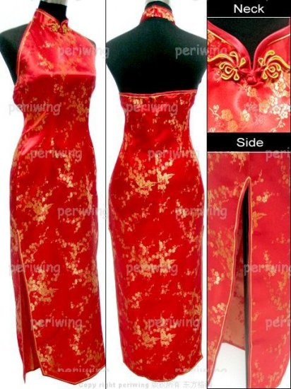Red Vogue Chinese Dress Backless Gown[CDL-05RD]