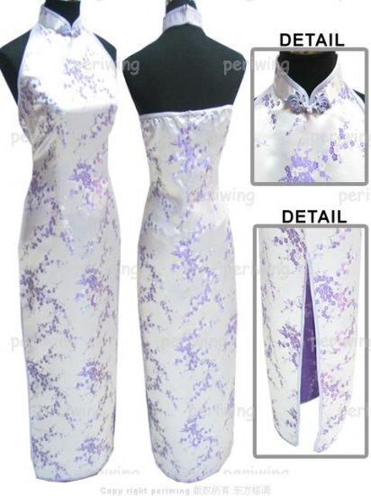 Lavender Vogue Chinese Dress Backless Gown[CDL-05LR]