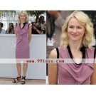 Naomi Watts Sheath/ Knee-length Sleeveless Stretch Fabric Cannes Film Festival/ Cocktail Dress
