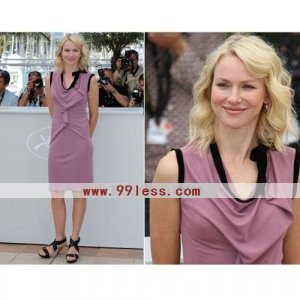 Naomi Watts Sheath/ Knee-length Sleeveless Stretch Fabric Cannes Film Festival/ Cocktail Dress