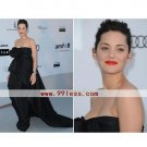 Marion Cotillard Sheath/Sweetheart Sleeveless Satin Cannes Film Festival/Evening Dress