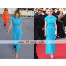 Kirsten Dunst Sheath/ Column Jewel Ankle-length Short Cannes Film Festival/ Evening Dress