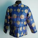 Men's Traditional Chinese Shirt with Embroidery Royal Blue