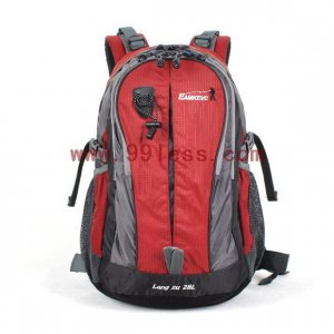 Outdoor Utility Double Zip Backpack- Red