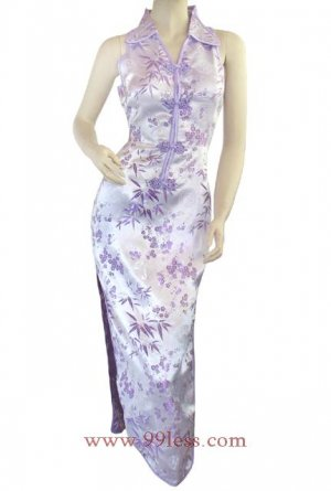 Classic Chinese Dress Evening Gown Lilac 9QIP-0141