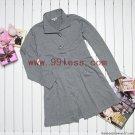 Women's Plus Size Maxi-Length Toggle-Button Front Down Coat