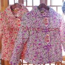 Cute Women's Chinese Jacket Patterned with Flora