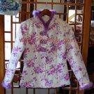 Aristocratic Women's Rabbit Hair Trim Chinese Jacket