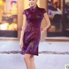 Chinese Mini Dress Patterned with Flower/Chinese Gown/Oriental Style Dresses