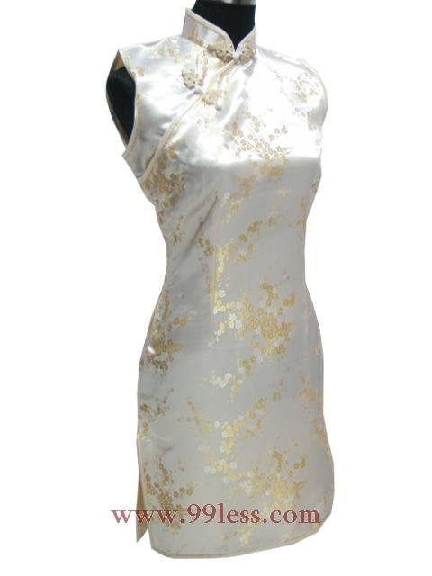 Cute Mini Chinese Dress golden 9QIP-0180