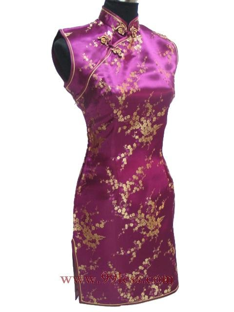 Cute Mini Chinese Dress Rose 9QIP-0179