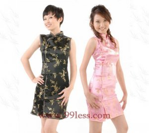 Clubs Chinese Wedding Dress Black 9QIP-0161