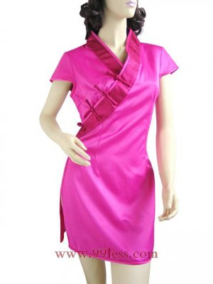 Min Chinese Rose White Like the Min QiPao 9QIP-0214/Chinese Gown/Oriental Style Dresses
