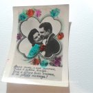 Vintage Soviet Postcard Russian Romance Proposal Love Engagement Greeting Card Lover USSR 1950s
