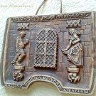 Vintage Ceramic Plaquette Wroclaw Cellar Handmade Relief Panno Drinking Bar Decor