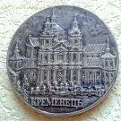 Vintage Ceramic Plaquette Pochaiv Lavra Church Kremenets Ukrainian City Handmade