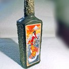 Japanese Theme Decorative Artisan Bottle Decoupage Flower Vase Interior Accent Table Decor