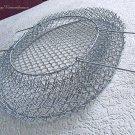 Vintage Metal Wire Basket Soviet Market Shopping Bag Collapsible USSR 1970s 80s