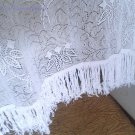 Vintage fillet curtain cotton bed cover farmhouse shabby chic home decor USSR 1950s