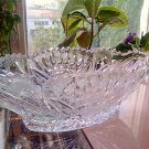 Crystal Boat Vase Candy Fruit Dish Vintage Antique Bowl Serving Table Decor Soviet Union 1970s USSR