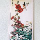 Flowers and Birds Chinese Traditional Art Painting Bamboo Scroll Wall Hanging