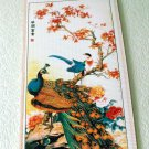 Peacock Bird Chinese Traditional Art Painting Bamboo Scroll Wall Hanging