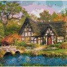 Counted cross stitch pattern paper charts Cottage landscape