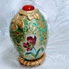 Tulips shabby chic Christmas egg artisan handmade decoupage home decor interior ornament