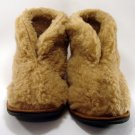 Mans Fur Slippers Winter Warm Boots Natural Sheep's Wool Shoes